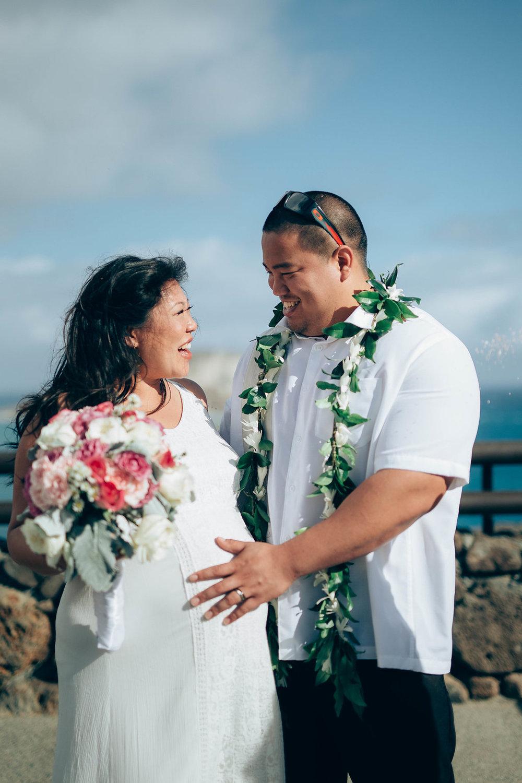 Oahu Bride and Groom