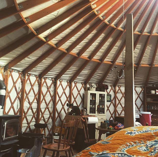 Brrrrr. Winter yurt adventures with Chen Kai.  #tbt