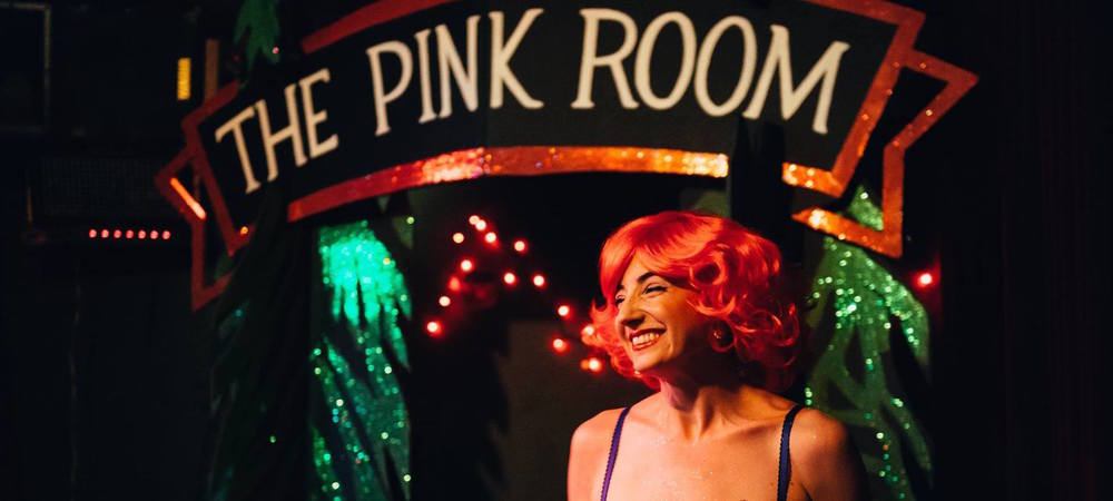 "Seedy Edie as Lil the Dancer at The Pink Room: David Lynch Burlesque's ""Fire Walk With Me"" Show, 10/22/2015."