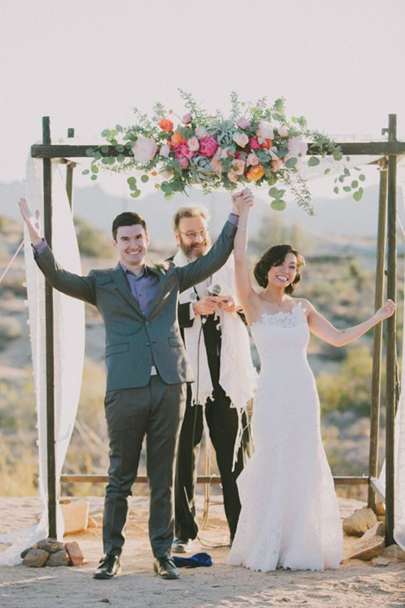 Michelle and Ben's colorful Joshua Tree wedding made 100 Layer Cake's Best of 2014: Wedding Decor | Visit their wedding