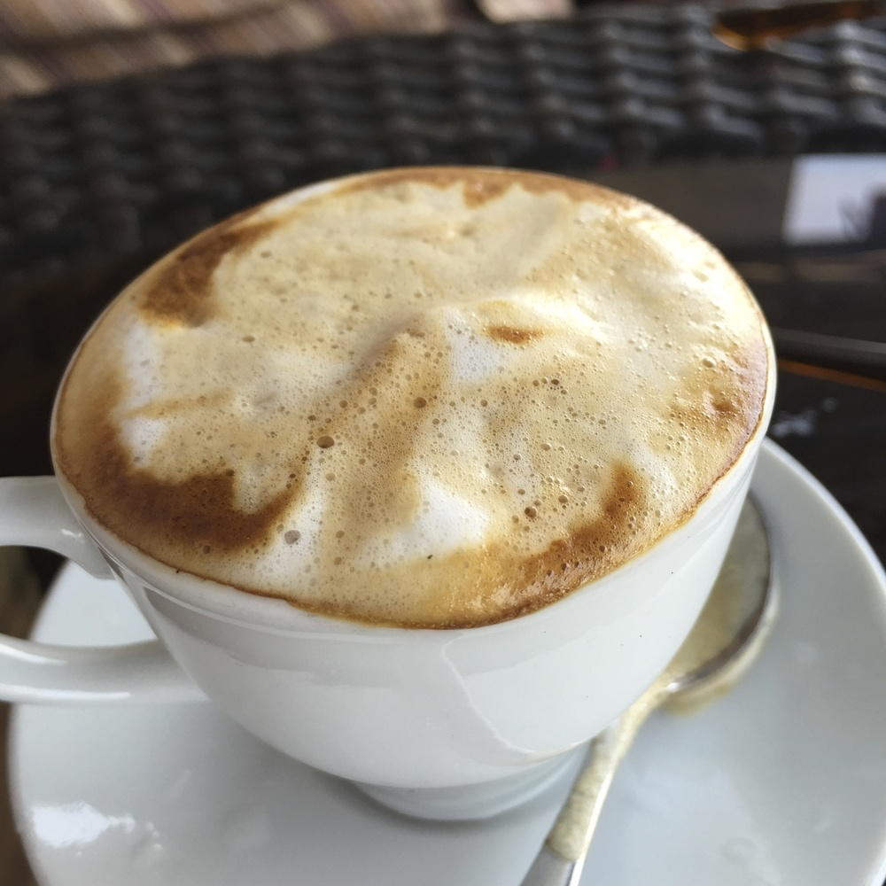 Lakeside macchiato on Lake Tana! These beans were likely sourced locally from the great farms around the lake.