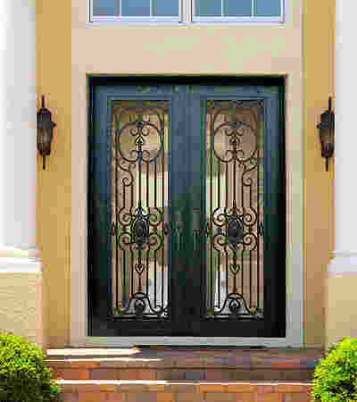 452 Iron Door with Glass