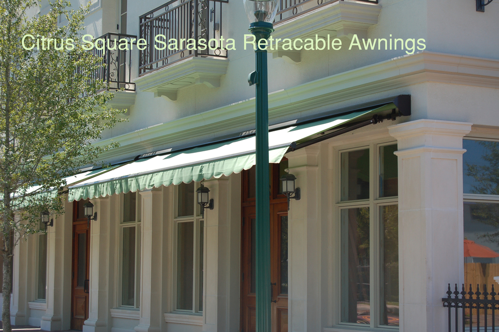 318 Citrus Square Store Front Retractable Awnings