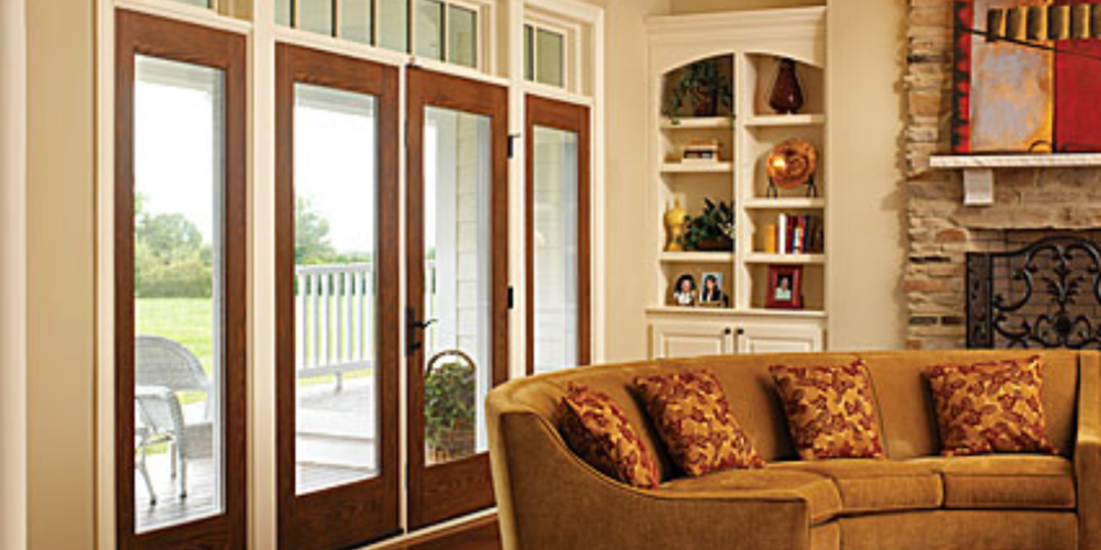 495 Wood Grain Doors with 3 Point Locks