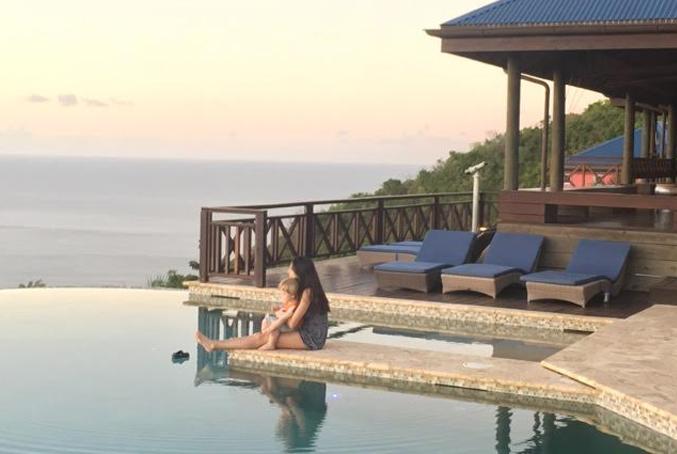 Dawn & her son Robbie at Tingalayo Villa in Tortola, B.V.I
