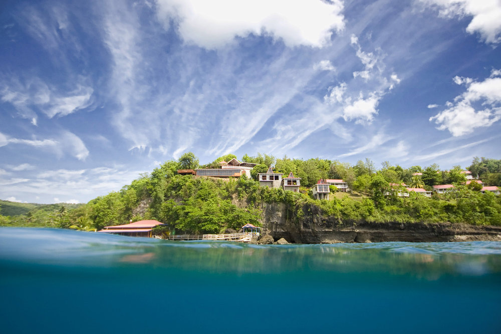 Ti Kaye  - View from the Caribbean Sea.jpg
