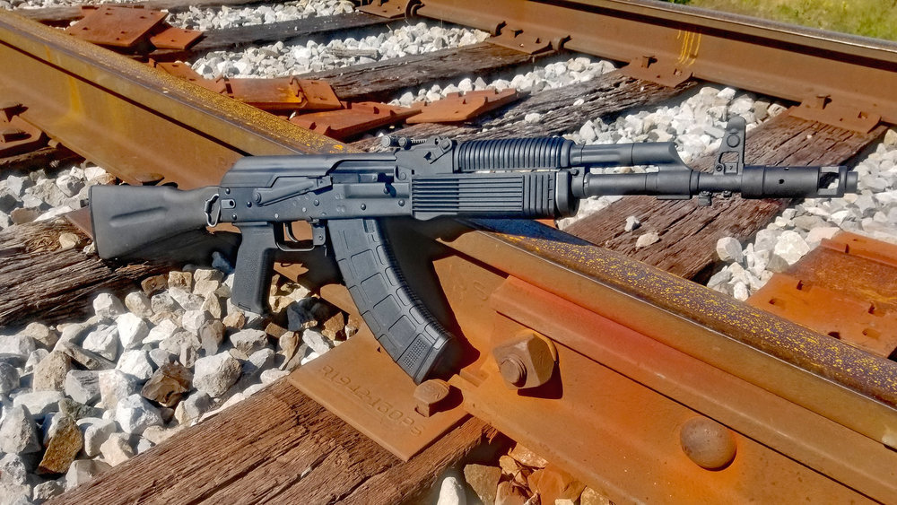 "VEPR 7.62x39mm sidefolding conversion, including a 16"" pin-and-weld front end."