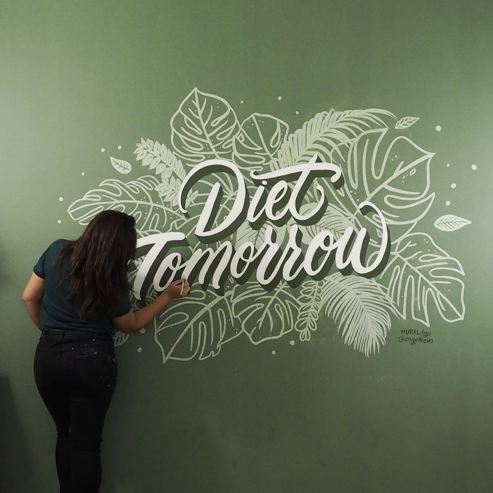 Portfolio - Featured work for lettering, design, murals and more.