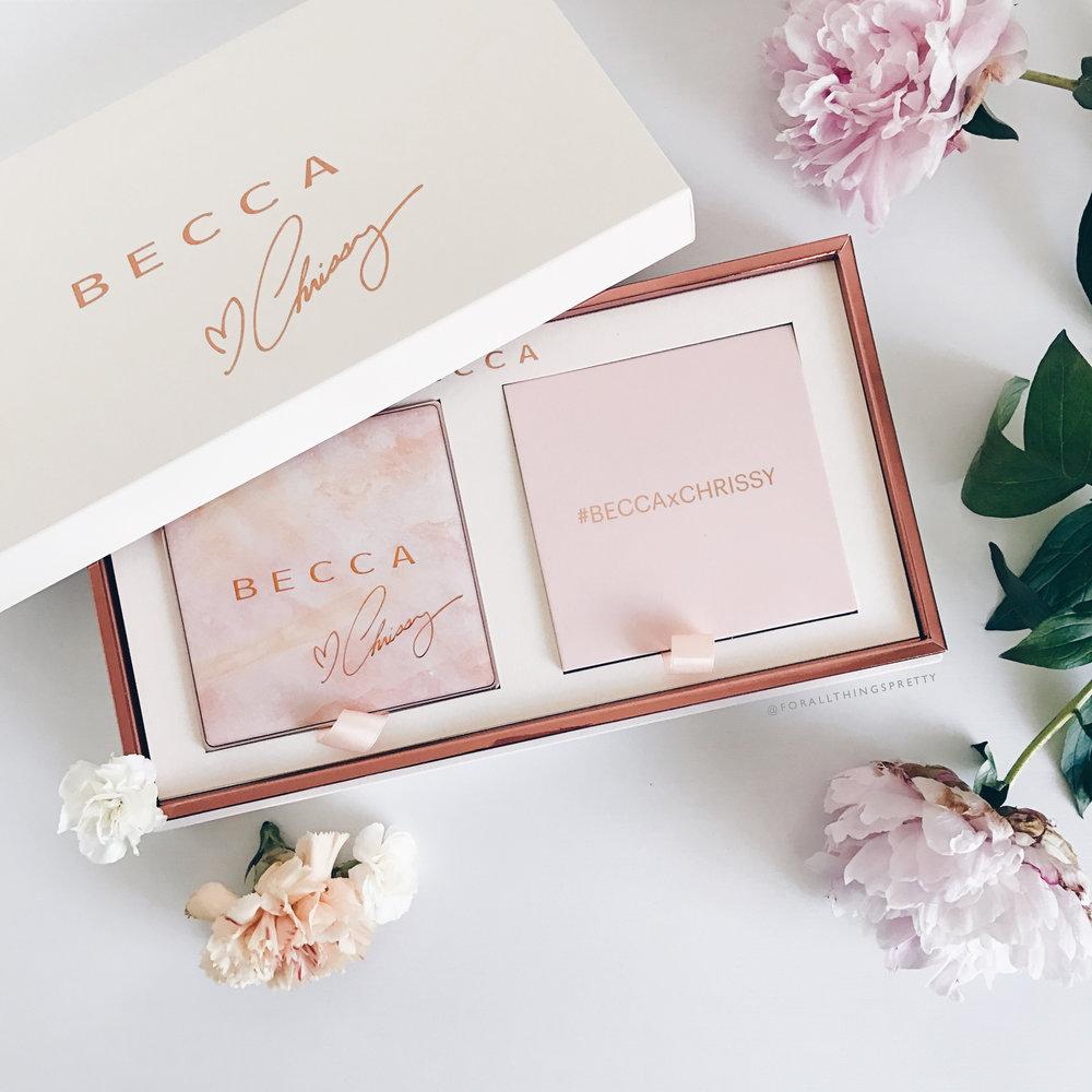 Becca x Chrissy Teigen Glow Face Palette Swatches | Becca Cosmetics