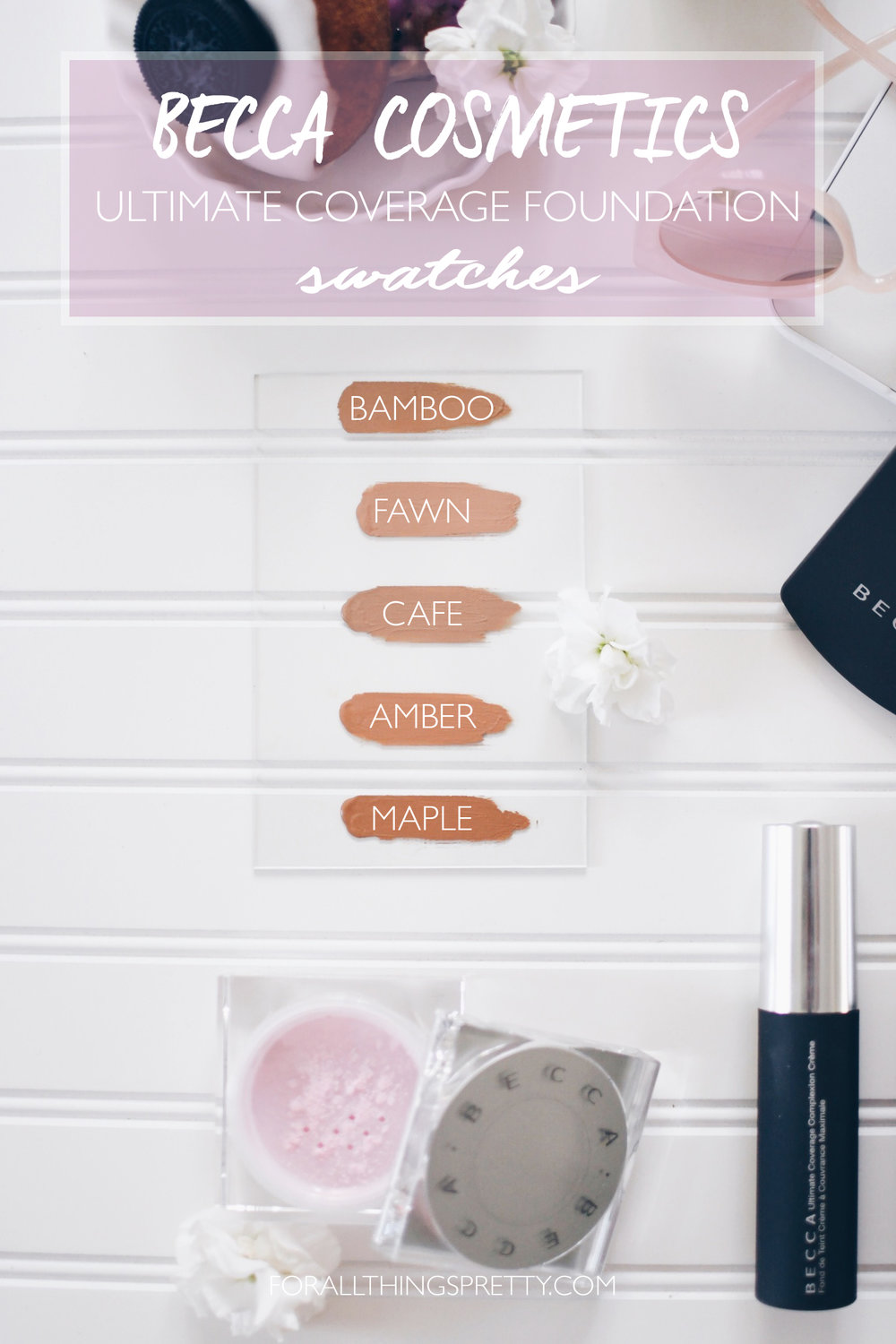 Becca Cosmetics Ultimate Coverage Foundation Swatches