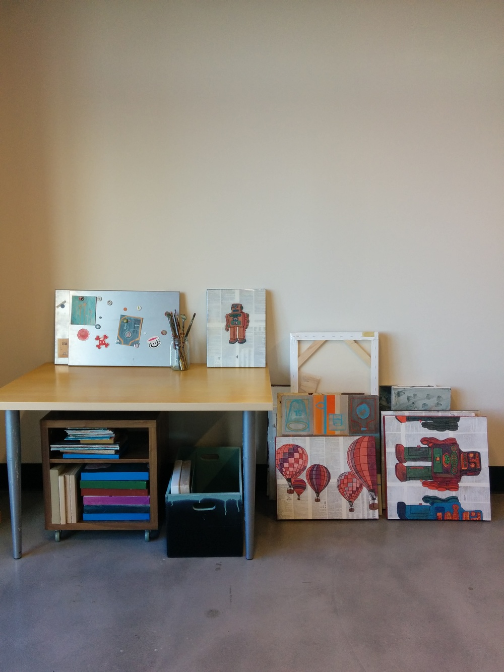 Julie Jacobson's workspace.