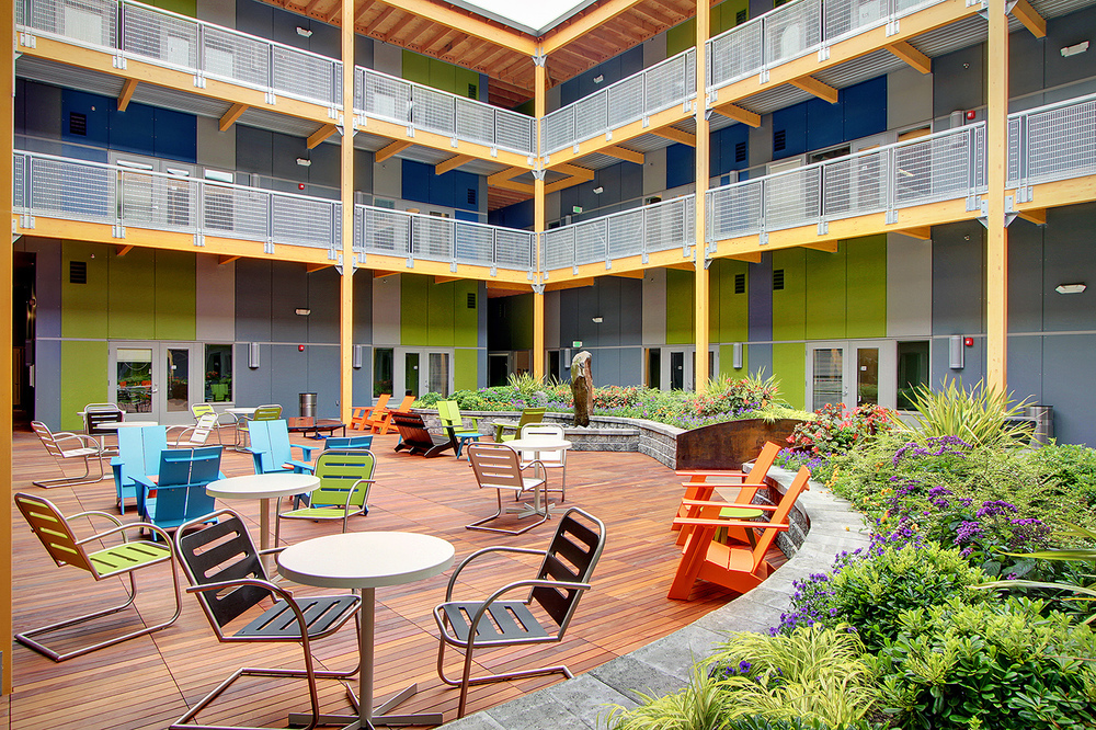 The courtyard at Interbay Work Lofts.
