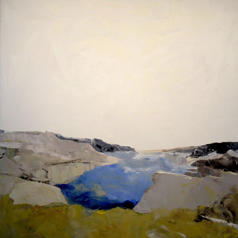 "Inlet, oil on canvas, 40"" x 40"""