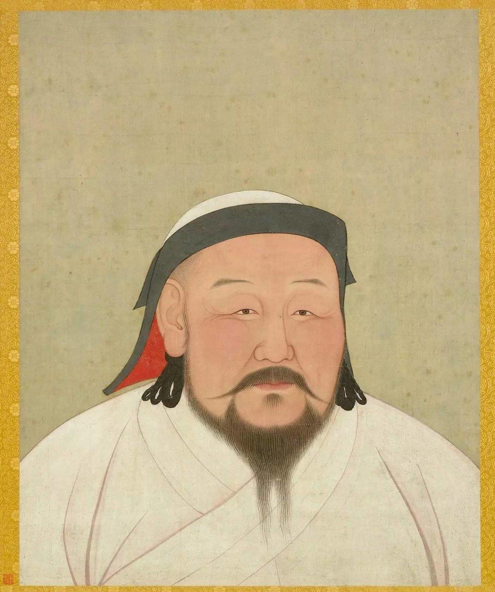 ▲  元朝,元世祖忽必烈半身像,图片来源:台北故宫博物院