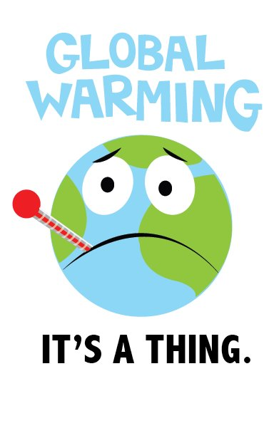 GLOBAL WARMING. Artwork for: BAND-AIDS NURSE commercial.  Vector. 2012.