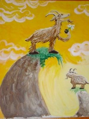 YODEELING MOUTAIN GOAT. Acrylics. 2008.
