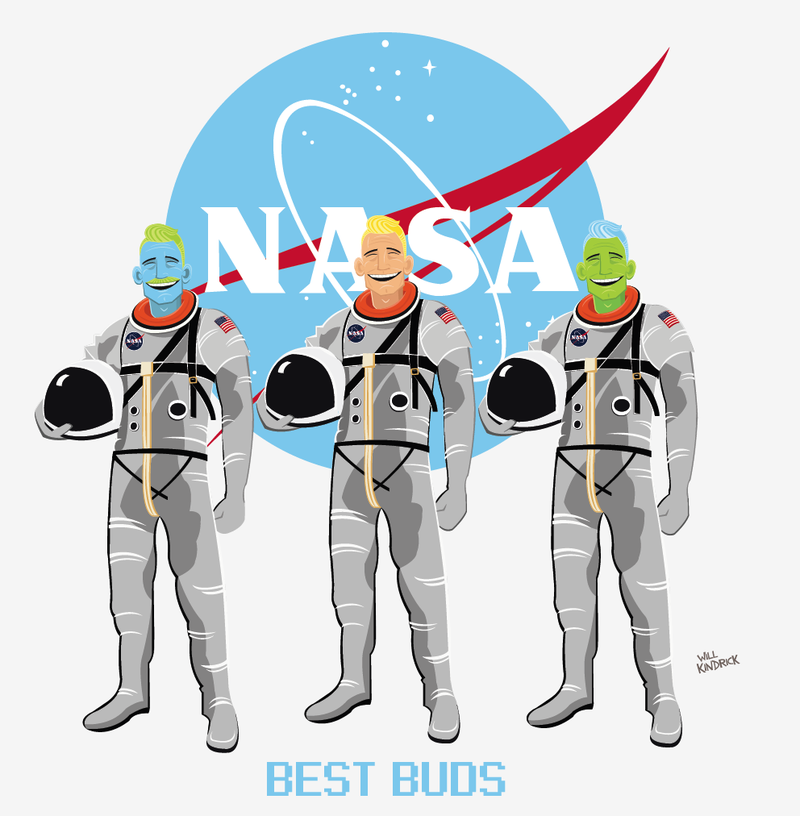 Space Buddies // Vector Art // 2013.