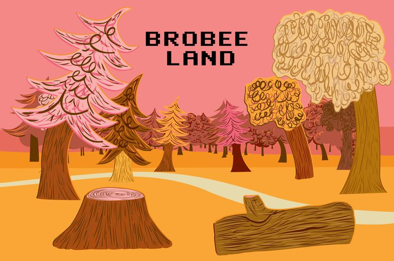 BROBEE LAND. Client: YO GABBA GABBA/MAGIC STORE PRODUCTIONS. Vector. 2007.