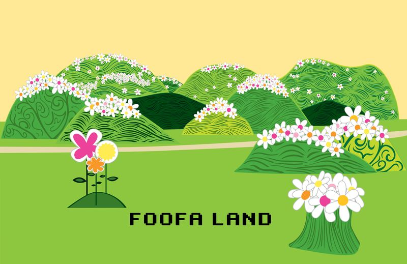FOOFA LAND. Client: YO GABBA GABBA/MAGIC STORE PRODUCTIONS. Vector. 2007.