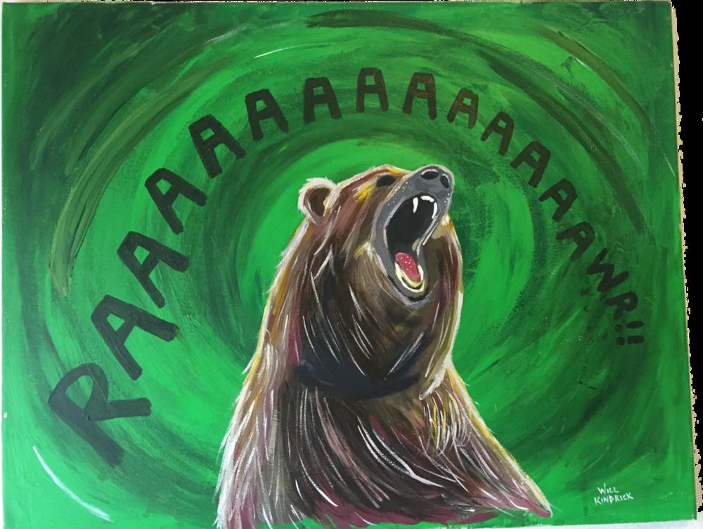 RAAWR BEAR 1.. Acrylics. 2015.