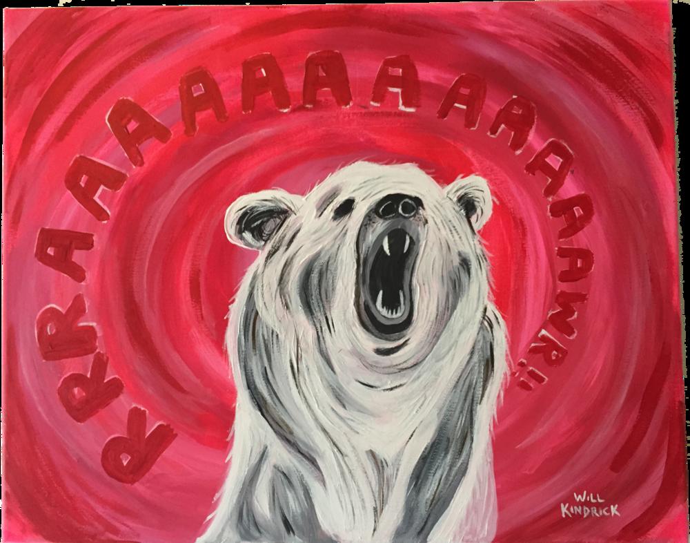 RAAAWR BEAR 2.. Acrylics. 2013.