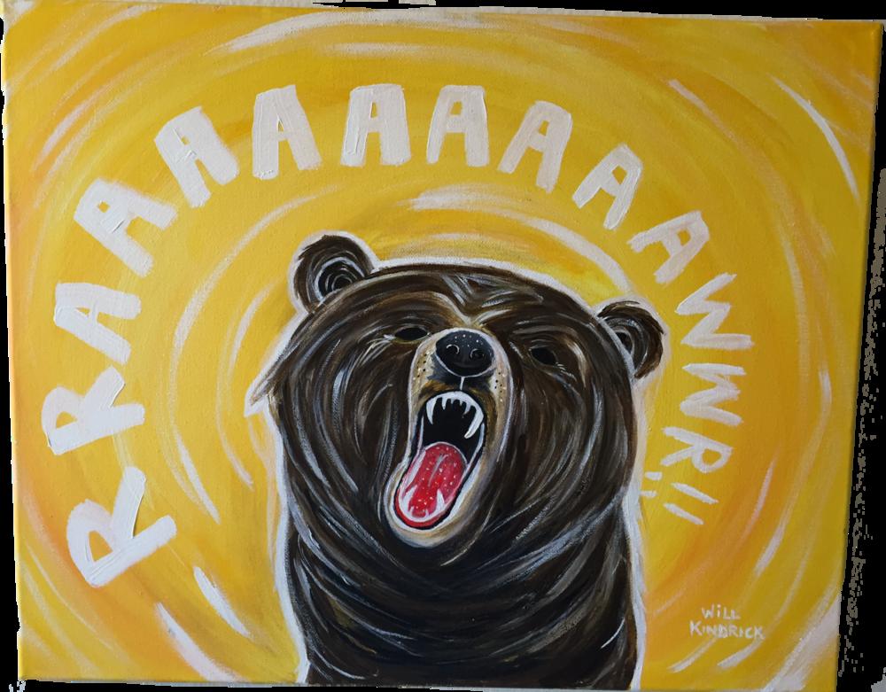 RAAAWR BEAR 3.. Acrylics. 2013.
