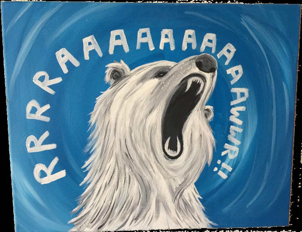 RAAAWR BEAR 4.. Acrylics. 2014.