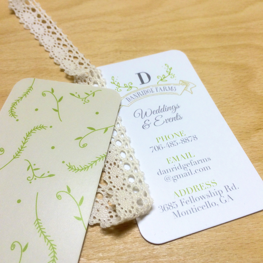 Custom Business Cards for Wedding Events company