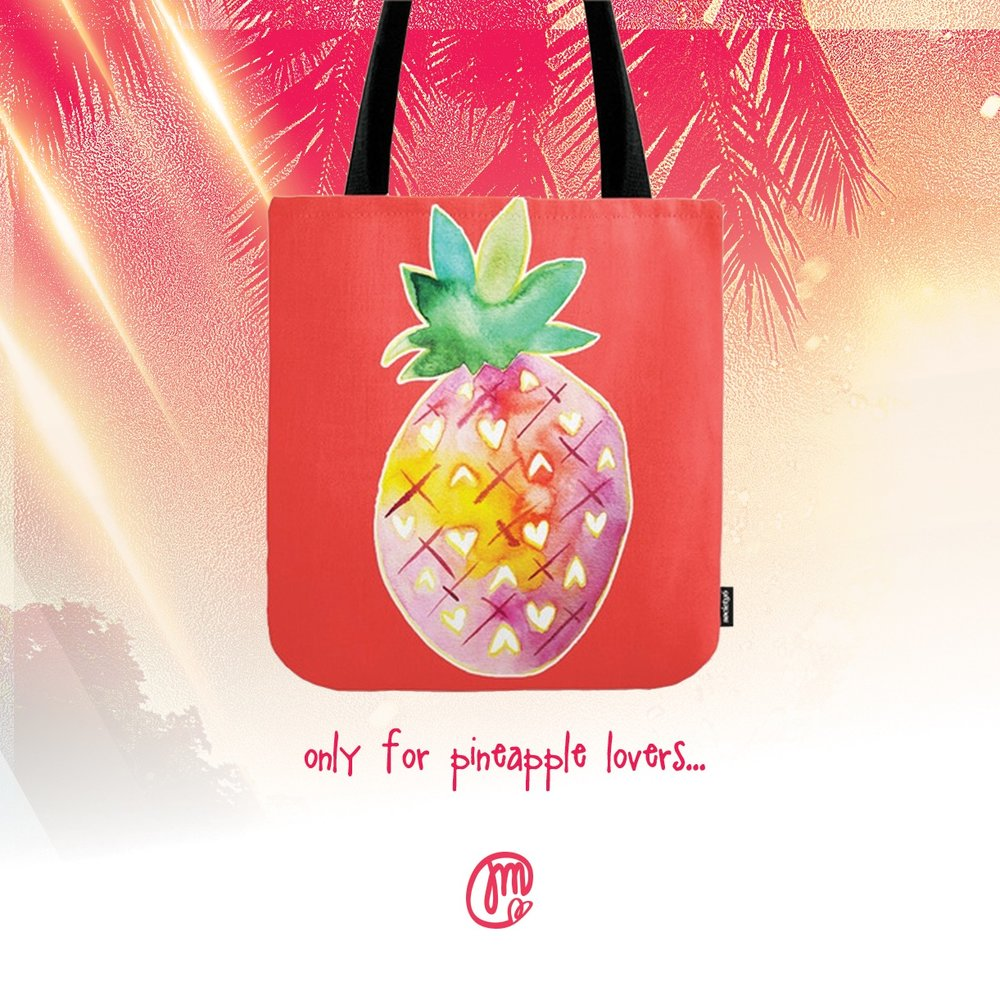 Pineapple Paradise Tote Bag from Society 6