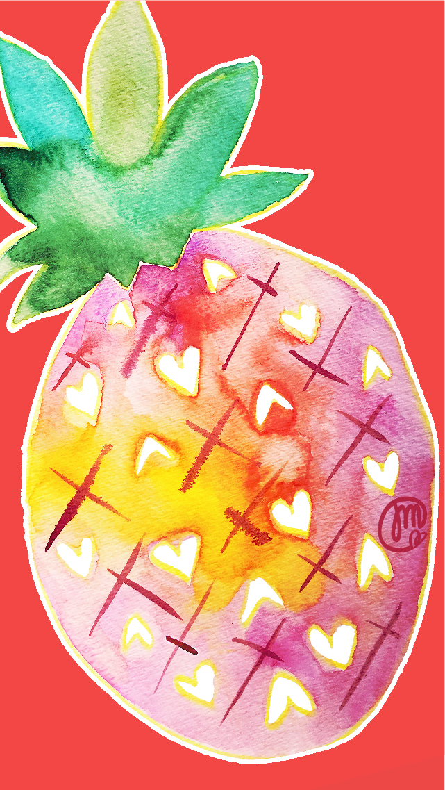 Pineapple paradise wallpaper for your iPhone