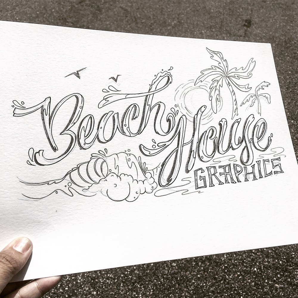 pencil lettering ink