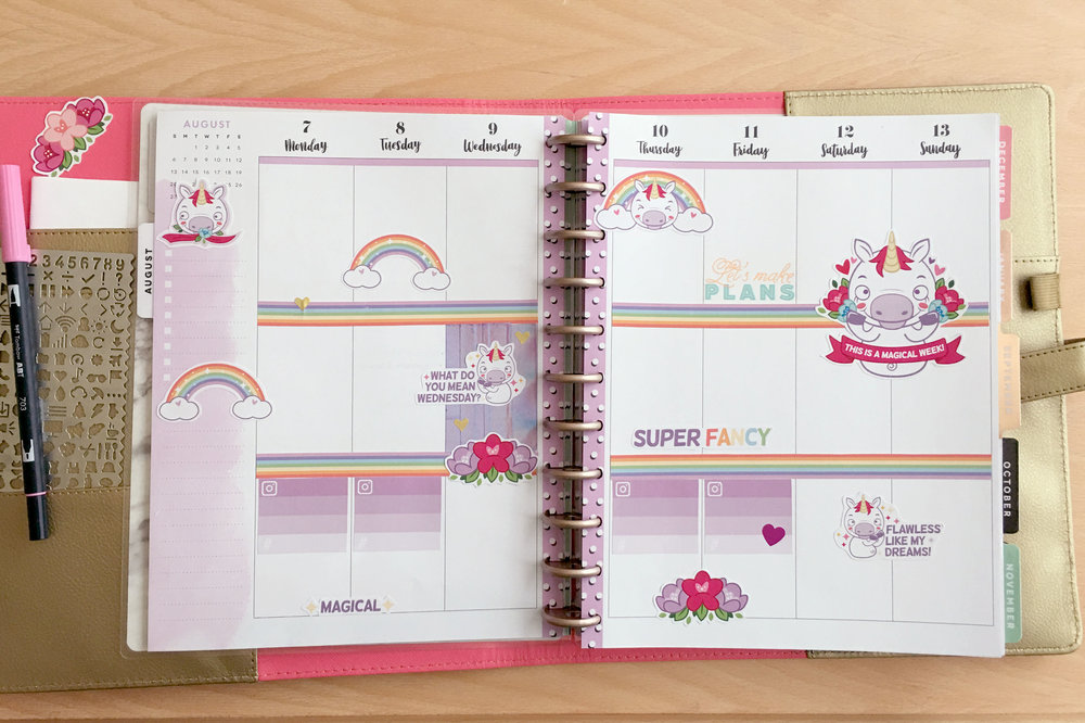 stickers rainbow kawaii happy planner