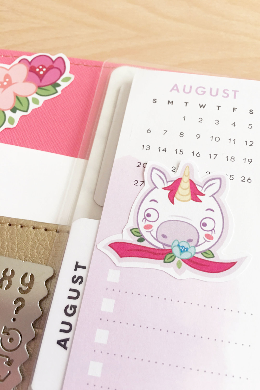 august unicorn stickers happy planner