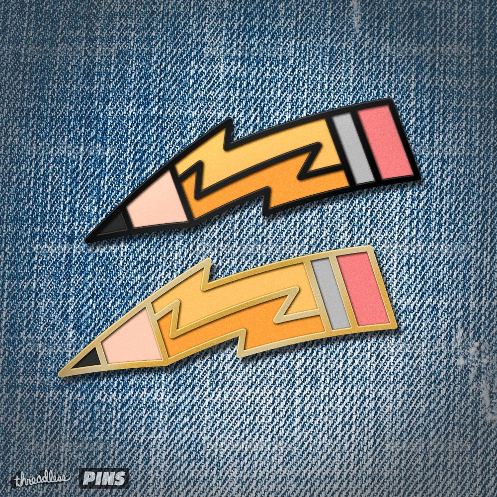 Lightning Pencil Pin Design
