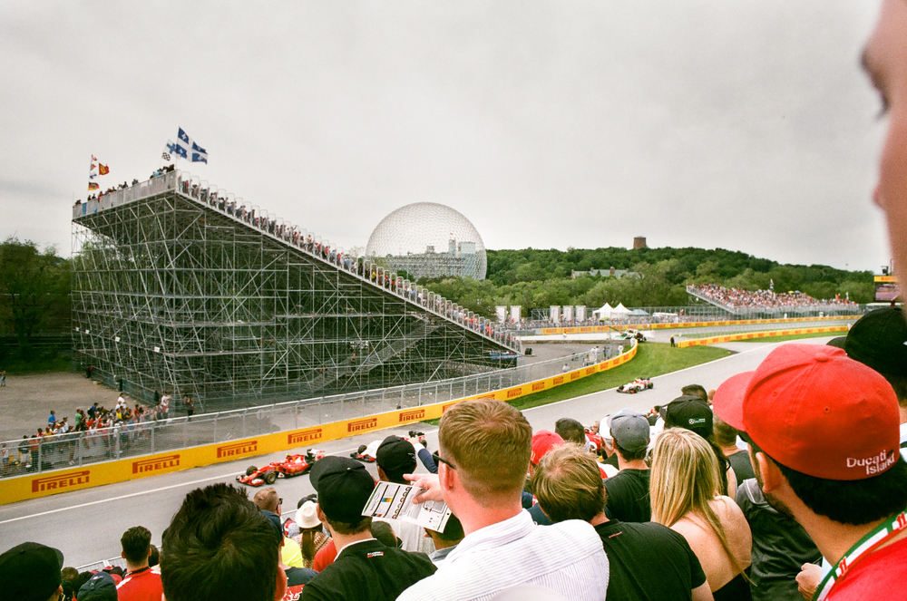 35mm     Formula One Race, Sebastian Vettel     Montreal, QC