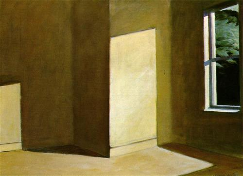 Edward Hopper,  Sun in an Empty Room , 1963 (Image Courtesy of  WikiArt)