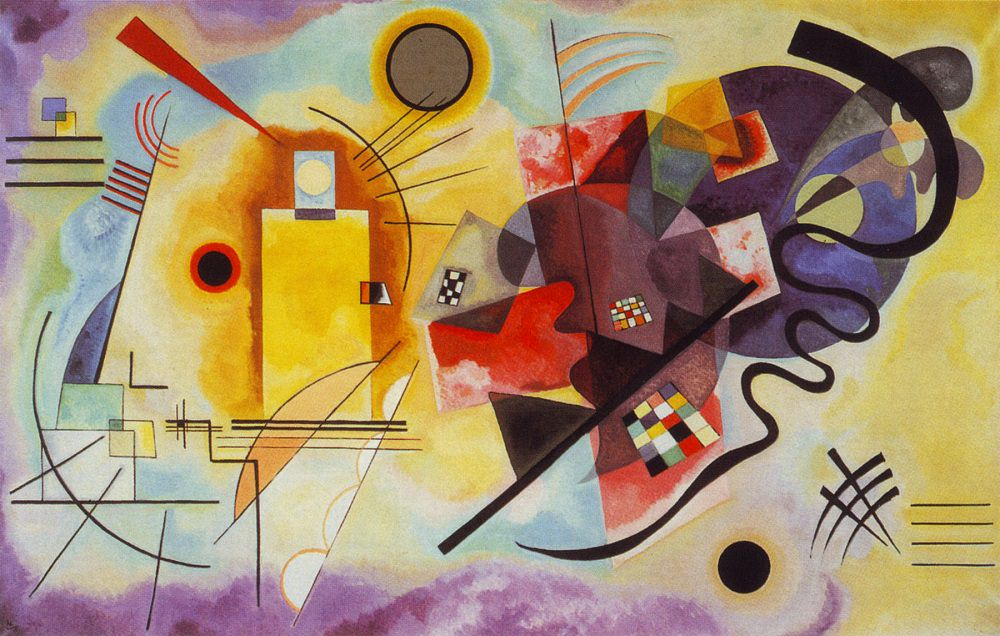 Wassily Kandinsky's painting   Yellow Red Blue   is what my brain looks like on any given day of motherhood.
