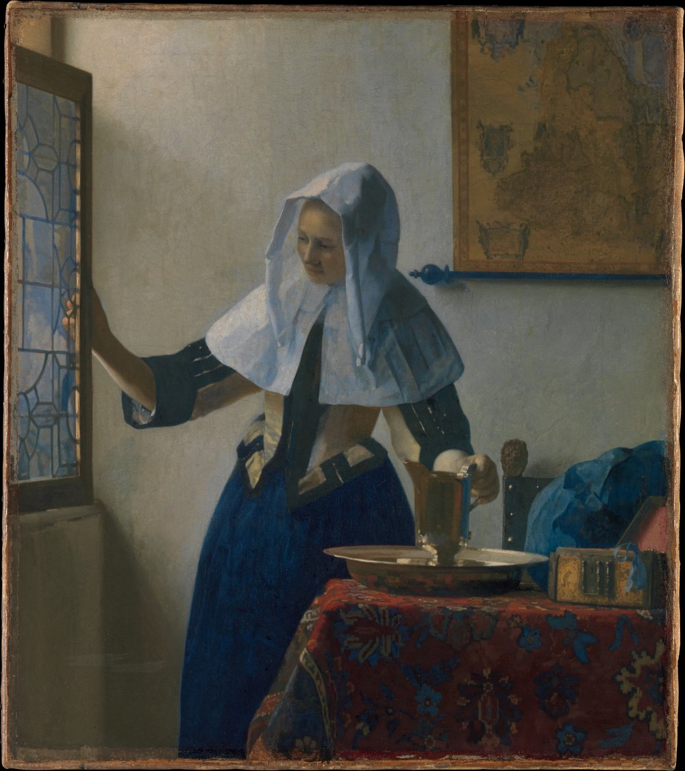 Johannes Vermeer,  Young Woman with a Water Pitcher , 1662 (Image Courtesy of  The Metropolitan Museum of Art )