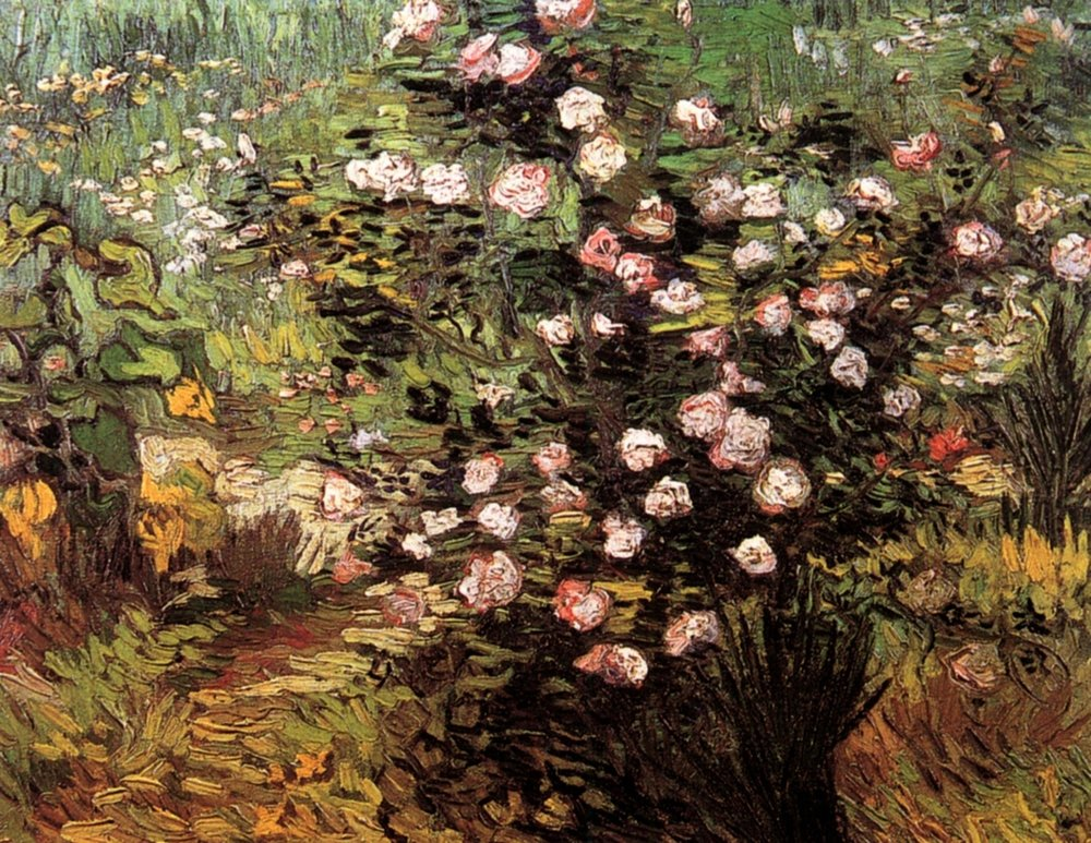 Vincent Van Gogh,  Rosebush in Blossom , 1889 (Image Courtesy of  WikiArt )