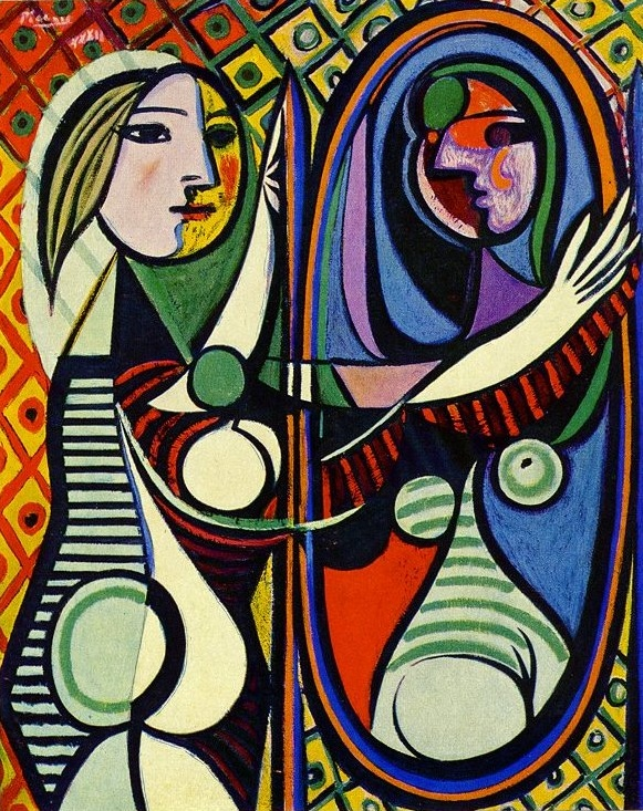Pablo Picasso,  Girl Before a Mirror , 1932 (Image courtesy of  MoMA )