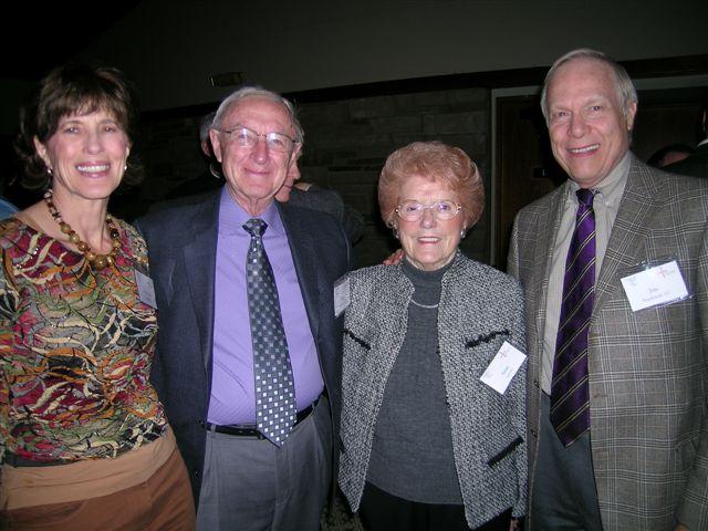 Mary Jean Nussbaum, Bob Simons, Anne Simons, Jim Nussbaum (from left)