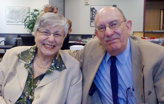 Alin Papazian with her husband, Albert, at her retirement party from Passaic County Community College on June 8, 2010. The Alin Papazian Poetry Center Memorial Fund, set up by Albert as an endowment through the College Foundation, will support Poetry Center programming, including workshops, readings, a literary magazine and contests.