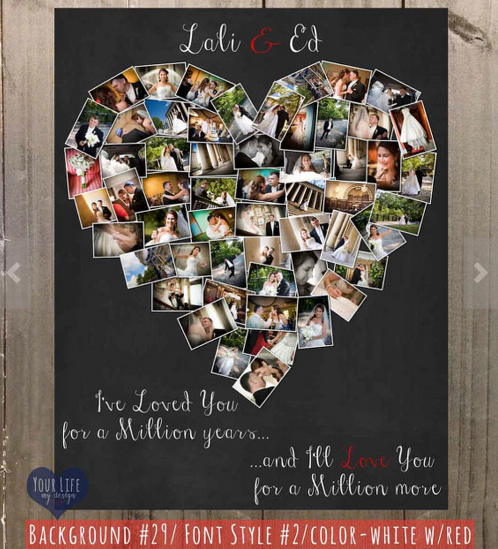 personalized heart collage your life my design