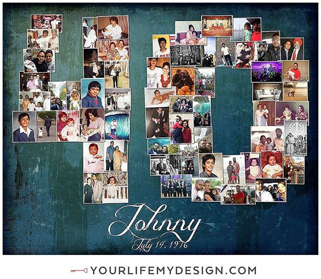 Johnny is celebrating #40 years of life with this #40th birthday 16x20 with 61 pics COLLAGE DESIGN BY: #yourlifemydesign on #etsy #40birthday #milestonebirthday #40andfabulous #birthdaygirl #birthdayboy #milestone #photocollage #photooftheday #decorating #partyplanner #throwbackthursday #etsyhunter #etsyfinds #etsysellers #etsyshop #40bday #girlfriend #bestfriends #bestie #iam40 #thehappynow #phototherapy #photoaddict #birthdaybash #luxurygifts #photocollage