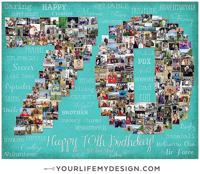 #Grandma is celebrating #70 years of life with this #70th birthday with this 16x20 with 169 pics COLLAGE DESIGN BY: #yourlifemydesign on #etsy #70birthday #milestone birthday #70andfabulous #birthdaygirl #birthdayboy #milestone #photocollage #photooftheday #partyplanner #throwbackthursday #etsyhunter #etsyfinds #etsysellers #etsyshop #70bday #girlfriend #bestfriends #bestie #iam70 #thehappynow #phototherapy #photoaddict #birthdaybash #luxurygifts #photocollage