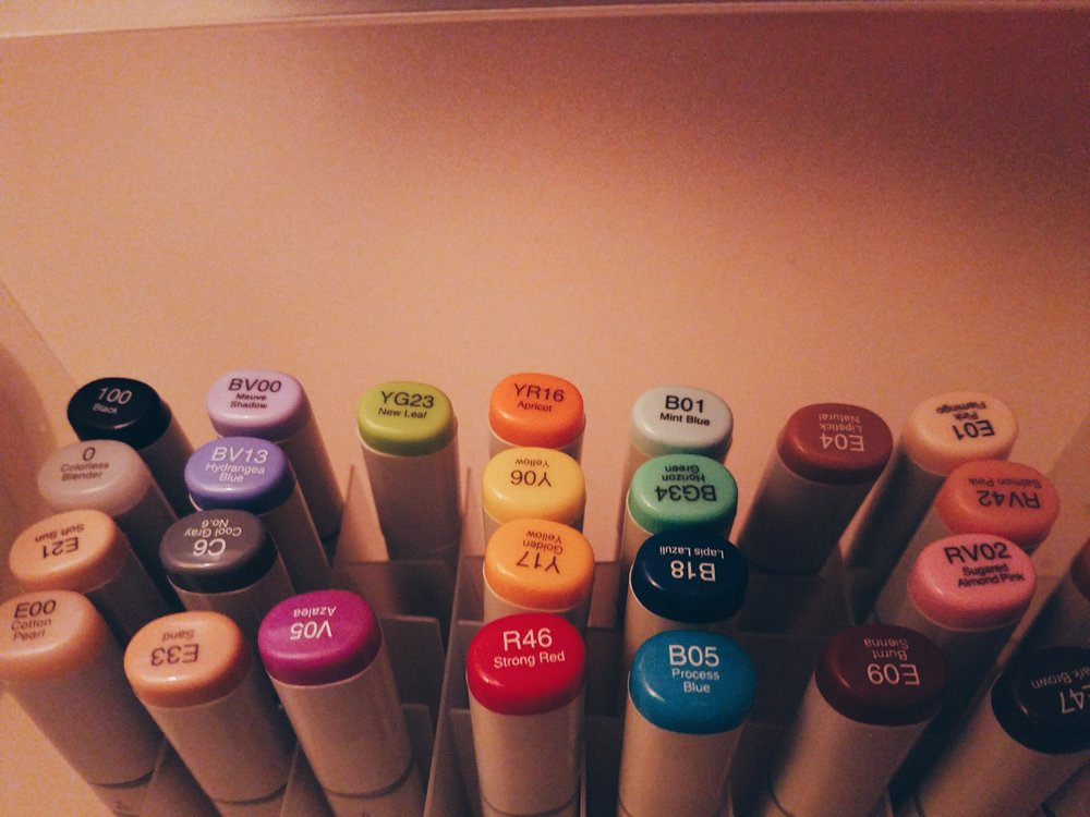 My Copic Stash
