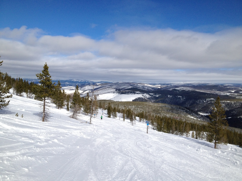 Downhill skiing at Lost Trail