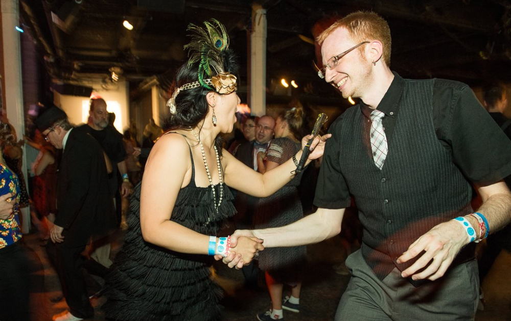 Chris Walters Dancing with Joy Tan at Frankie 100 in NYC