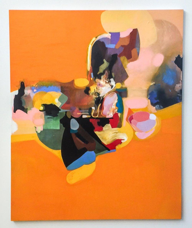 "Untitled    Francis   54""x64"" Acrylic on canvas."