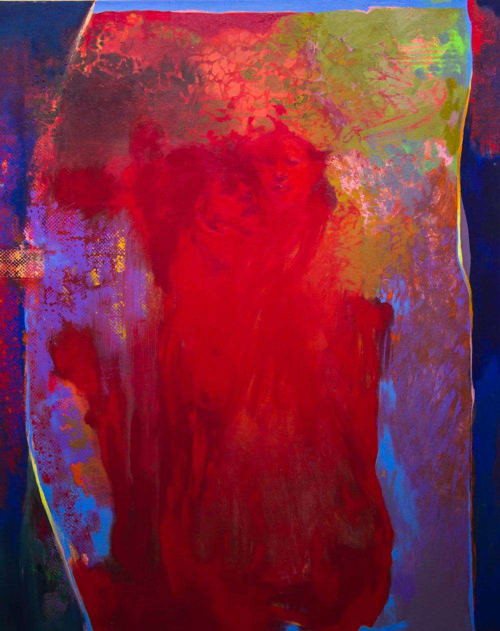 """Waiting   48""""x60"""" Acrylic on canvas"""
